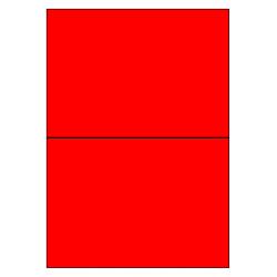 210 x 148 mm 100 vel p.doos ROOD FLUOR