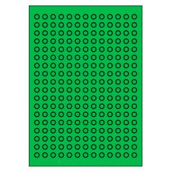 10 mm Rond 100 vel p.doos 234 per vel GROEN