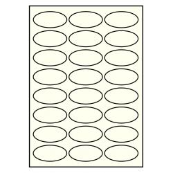 63 x 31 mm OVAAL 100 vel per doos IVOOR