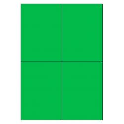 105 x 148 mm 100 vel p.doos GROEN