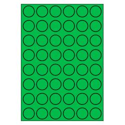 30 mm Rond 100 vel p.doos GROEN