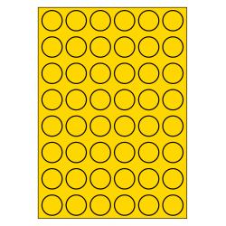 30 mm Rond 100 vel p.doos GEEL