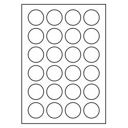 100 vel p.doos PolyMasterVinyl Mat transparant 40 mm Rond