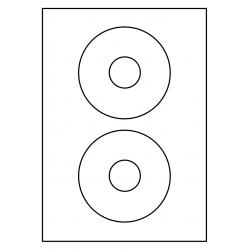 CD GLANS 118 mm etiket 2 per vel 100 vel p.doos