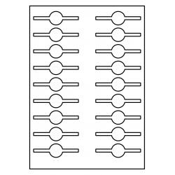 Sluitzegel voor potten en flessen totale lengte: 83 mm  Rond: 26