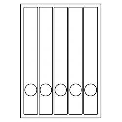 Rug-etiketten voor smalle ordner met gat 100 vel p.doos WIT