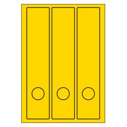 Rug-etiketten voor brede ordners + gat 100 vel p.doos GEEL