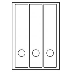 Rug-etiketten voor brede ordners + gat 100 vel p.doos WIT