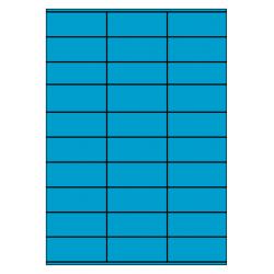70 x 29 mm 100 vel p.doos BLAUW
