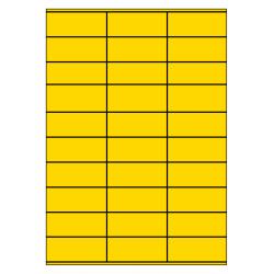 70 x 29 mm 100 vel p.doos GEEL