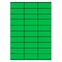 70 x 29 mm 100 vel p.doos GROEN