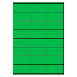 70 x 36 mm 100 vel p.doos GROEN