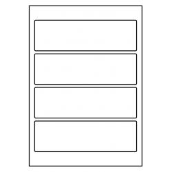 Rug-etiketten voor brede ordners zonder gat  100 vel p.doos WIT