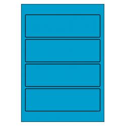 Rug-etiketten voor brede ordners zonder gat 100 vel p.doos BLAUW