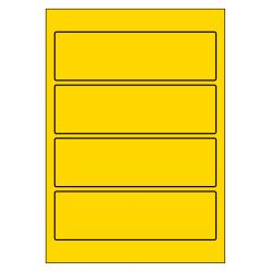 Rug-etiketten voor brede ordners zonder gat 100 vel p.doos GEEL