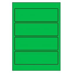 Rug-etiketten voor brede ordners zonder gat  100 vel p.doos GROE