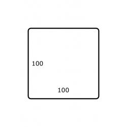Rol etiketten 100 mm  x 100 mm GLANS 1.500 per rol
