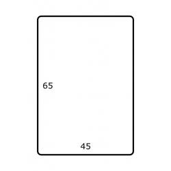 Rol etiketten 45 mm x 65 mm GLANS 2.500 per rol