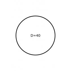 Rol etiketten rond 40 mm GLANS  2x 4.000 per rol