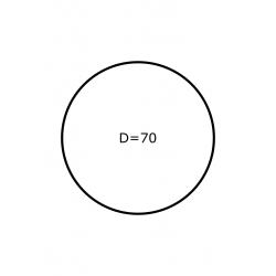 Rol etiketten 70 mm rond GLANS 2.000 per rol