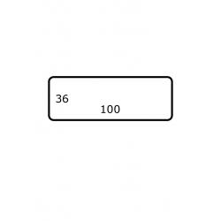 Rol etiketten 100 mm x 36 mm GLANS 2.500 per rol