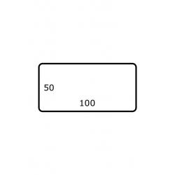 Rol etiketten 100 mm x 50 mm GLANS 2.500 per rol