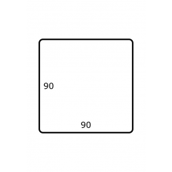 90 x 90 mm Papier Glans 1.750 per rol