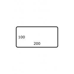 200 x 100 mm Papier Glans 1.750 per rol