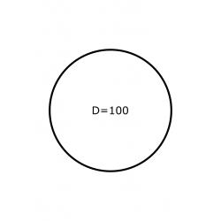 Rol etiketten Rond 100 mm 1.550 per rol PAPIER GLANS