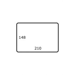 Roletiket 210 mm x 148 mm 1.000 per rol Polyjet Glans