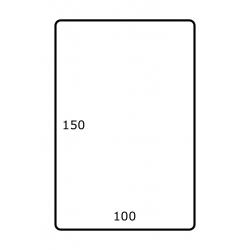 Roletiket 100 mm x 150 mm 1.000 per rol Polyjet Glans