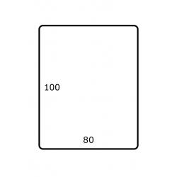 Roletiket 80 mm x 100 mm 1.750 per rol Polyjet Glans