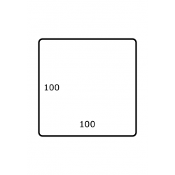 100 x 100 mm 1.750 per rol Polyjet Glans