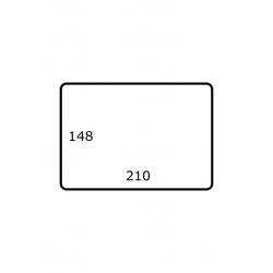 Rol etiketten 210 mm x 148 mm 1.000 per rol Polyjet Mat