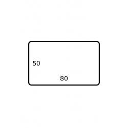 Roletiketten 80 mm x 50 mm 2.500 per rol Polyjet Mat