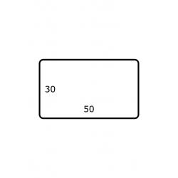 Roletiket 50 mm x 30 mm 3.000 per rol Polyjet Mat