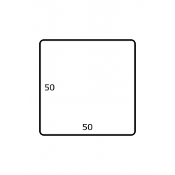 50 x 50 mm 2.500 per rol Polyjet Mat