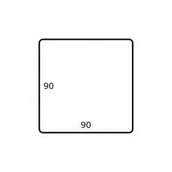 90 x 90 mm 1.750 per rol Polyjet Mat