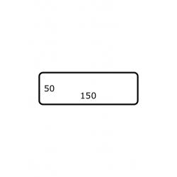 150 x 50 mm 2.500 per rol Polyjet Mat