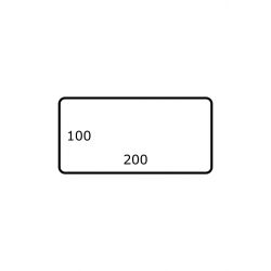 200 x 100 mm 1.750 per rol Polyjet Mat
