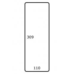 Roletiket 110 mm x 309 mm 500 per rol papier glans