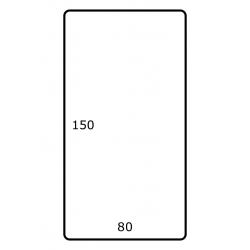 80 x 150 mm Papier Glans 1.000 per rol