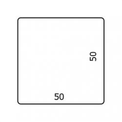 50 x 50 mm Papier Glans 2.500 per rol